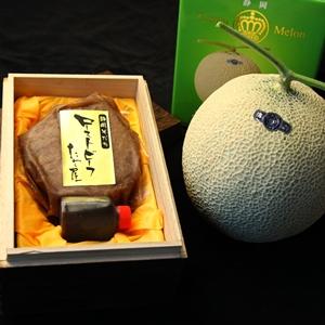 静岡そだちサーロインローストビーフ最高級クラウンメロン詰合せ